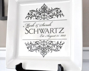 Personalized Ceramic Plate 10 x 10