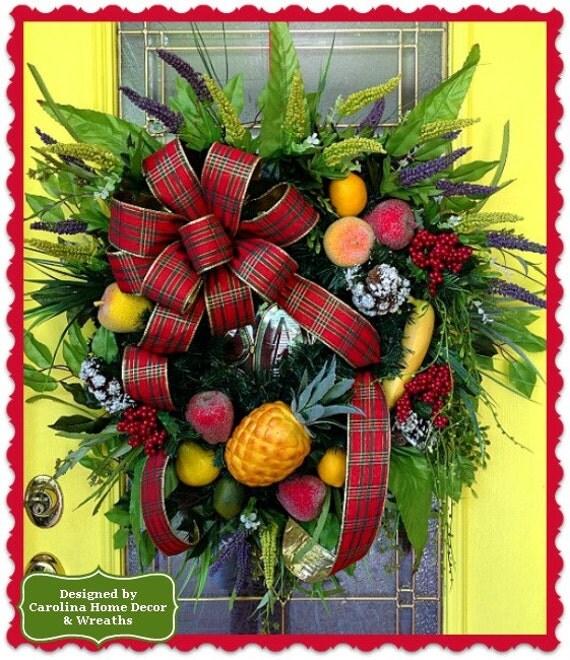 welcome christmas wreath on - photo #17