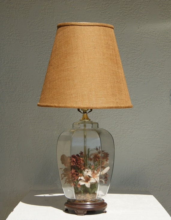 Items Similar To Vintage Clear Glass Ginger Jar Lamp