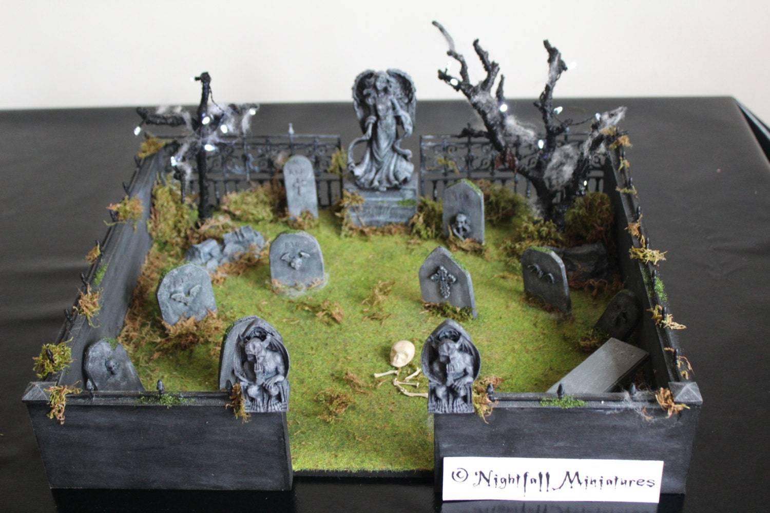 Dollhouse Miniature Spooky Gothic Halloween Haunted Graveyard
