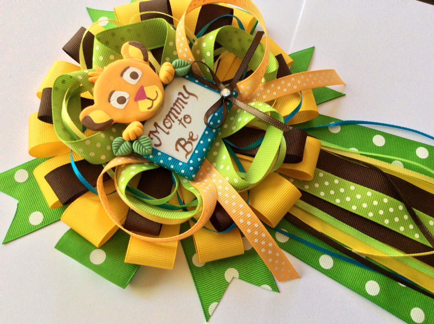 Lion king baby shower mommy to be bow