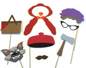 Photo Booth Props - Little Red Riding Hood Themed Props