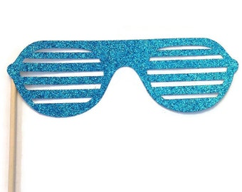 Photo Booth Prop- Glasses  Photo Booth Prop with GLITTER- You Choose the Color