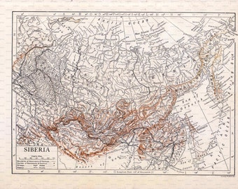 Encyclopedia Britannica Map of Siberia. Encyclopedia Britannica. 1910.