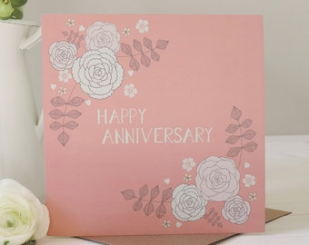 SALE: Amelia Happy Anniversary Card, Greetings Card, Stationery, Paper Goods
