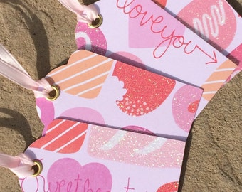 Handmade Happy Valentine's Day Gift Tags
