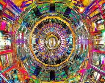 Hadron Collider LHC Cern Switzerland Print - Run of 100