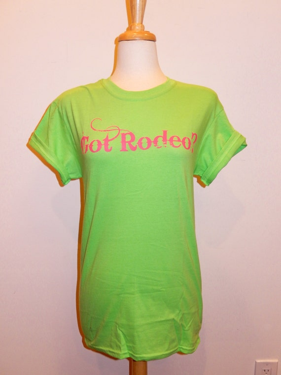 Got Rodeo-Buck Yeh Original Screenprint Lime Green with pink