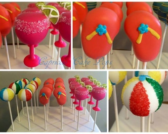 Summer pool party  cake pops