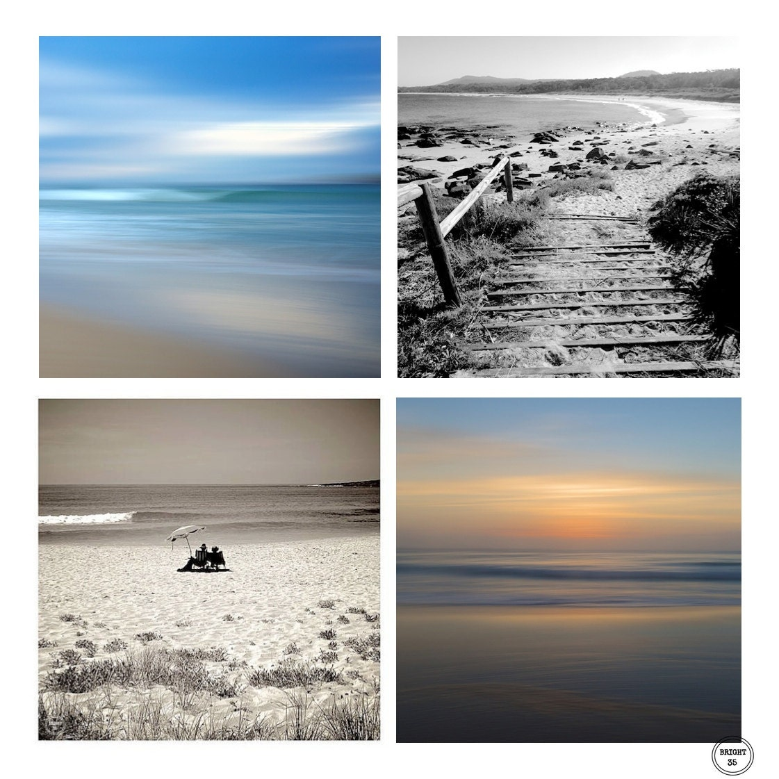 4 prints beach photos beach home decor abstract beach for Beach house prints