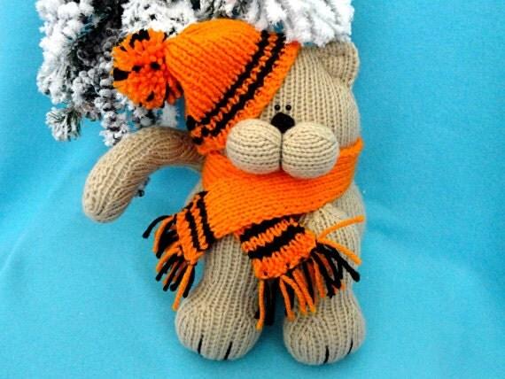 Knitted Amigurumi Animal Patterns : Knitting PATTERN Animal Knit Pattern Cat Animal Patterns ...