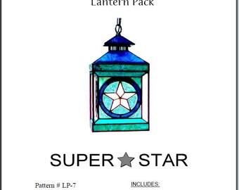 Super Star Stained Glass Lantern Pattern Pack © Dodge Studio