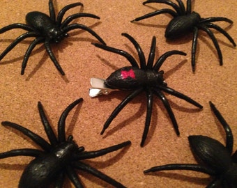 Black Widow Spider hair clip