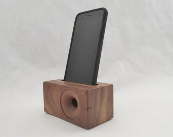Acoustic iPhone Speaker for iPhone 6 and iPhone 6 plus, Wooden iPhone Speaker, Wood iPhone Dock, iPhone Speaker Dock, Great Christmas Gift