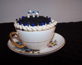 Royal Imperial England Teacup PinCushion Finest Bone China