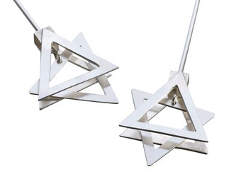 Star of David - Silver Star of David Earrings - Silver Star of David