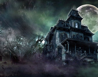 2 SIZES The Haunted House print signed by Scott Jackson (limited edition)