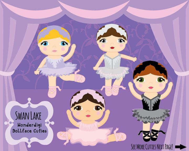 Swan Lake Clipart Cute Kids Clipa...