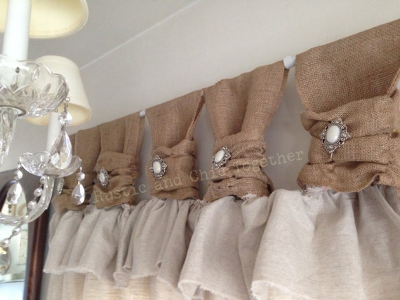 Linen Curtains with Jewelry Accent