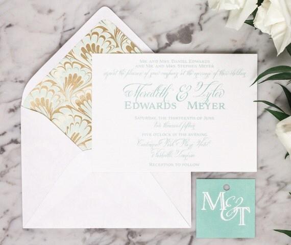 Virginia Wedding Invitation Suite Monogram Traditional