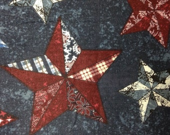 One Half Yard of Fabric Material - Quilted Stars