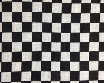 One Fat Quarter of Fabric - Racing Check Small