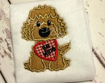 Dog Holding Heart Boy Version Valentine Shirt or Bodysuit, Boy Heart Shirt, Boy Valentine Shirt,Valentine Shirt for Boy, Dog Valentine Shirt