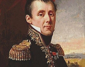 Portrait of Armand-Maximilien-François-Joseph de Saint-Georges PDF Cross Stitch Pattern