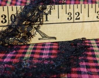 """Lace, 32 yards, 3/4"""" gathered, black"""