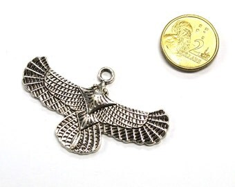 1 x 50mm Antique Silver Eagle Pendant