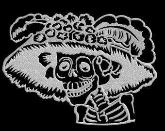 La Catrina Embroidery Skull Design