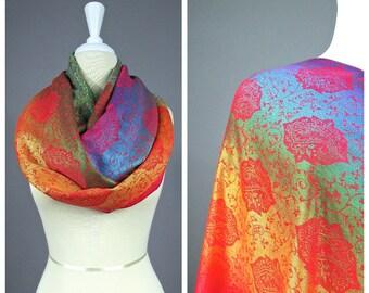 Nursing cover, nursing scarf, breastfeeding cover, infinity scarf, orange scarf, paisley scarf