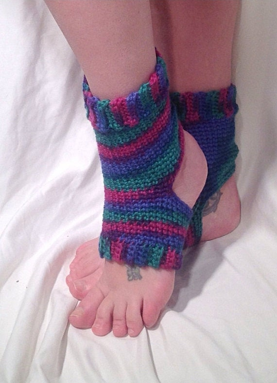 Crochet Yoga Socks : Wool Crochet Yoga Socks by DapperCatDesigns on Etsy
