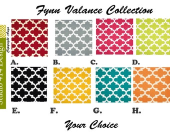 Geometric Valance. Geometric Window Treatment.Geometric Window Valance.Geometric Valance.Gotcha window Treatment