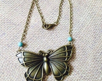 Antique Butterfly Necklace.