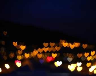 Love Bokeh Hearts Print 18x12 inch with FREE UK Delivery