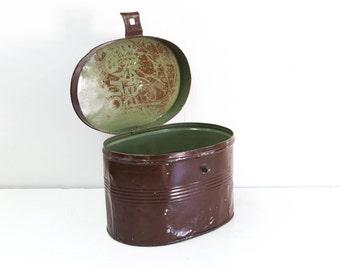 English Tin Hat Box