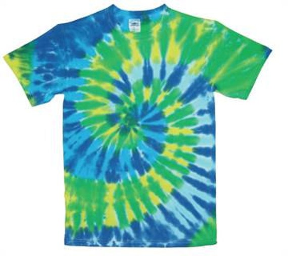 Items similar to tie dye shirt cool colors tie dye t for Customized tie dye shirts