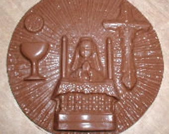 Communion Girl Plaque  Chocolate Mold