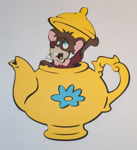 Dormouse In Teapot Die Cut Alice In Wonderland Disney