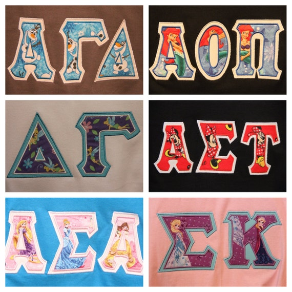 custom greek letters custom disney letter t shirt by thesororityspot on etsy 21271 | il 570xN.705103723 ip38