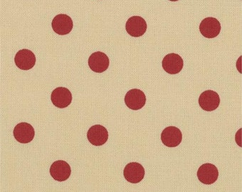 Paint Box Prints - Red Dot on Red 1/2yd