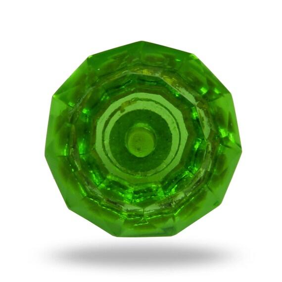 Green decorative furniture knob cut glass door knob dresser drawer