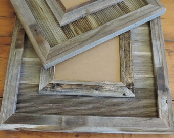 Durango Reclaimed Wood /  Western Picture Frame 4 X 6 through 12 X 18 INCLUDES GLASS or ACRYLIC
