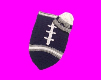 Dallas Fan Favorite Baby Girl Football Cocoon & Hat (Newborn to 3 months)
