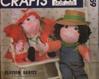 McCalls Pattern 8659 Soft Sculptured Dolls  Blossom Babies