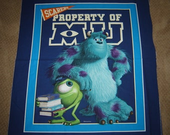 Per Panel,  Disney Monsters Inc. Fabric Blanket Not Included