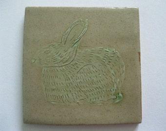 Green Rabbit Tile