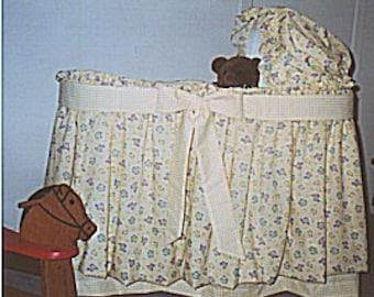 Baby Girl Boy Custom Bassinet Bedding Set Cover Sheet Hood Skirt Customer Provided Fabrics