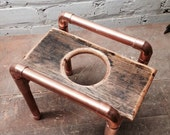 Pour Over Stand - Copper & Reclaimed Wood